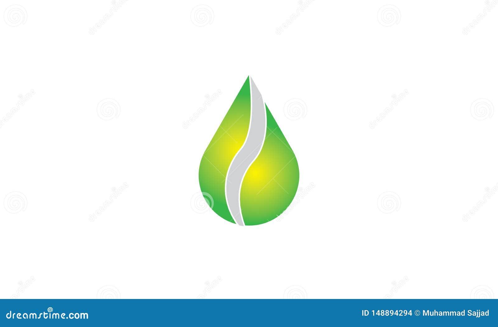 Groen Ecologieblad Logo Template - Groene Verse de Natuurvoeding Natuurlijke Gezondheidszorg van Gezondheidseco Logotype