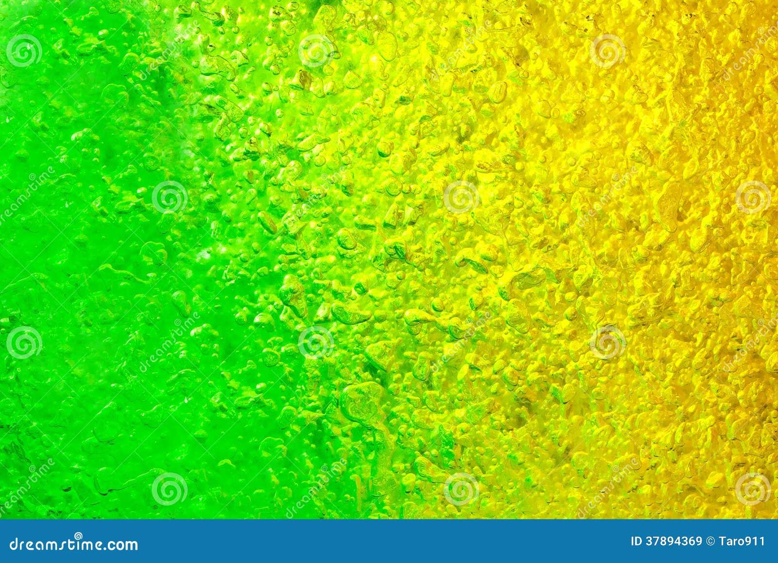 Groen en geel Gel