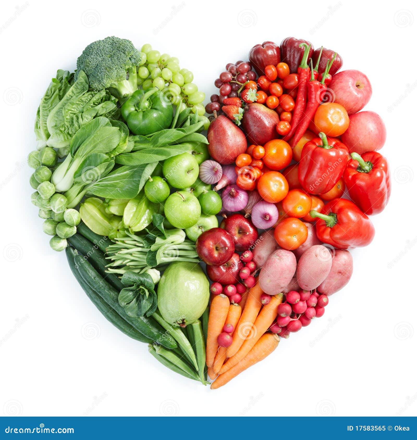 Groen en rood gezond voedsel