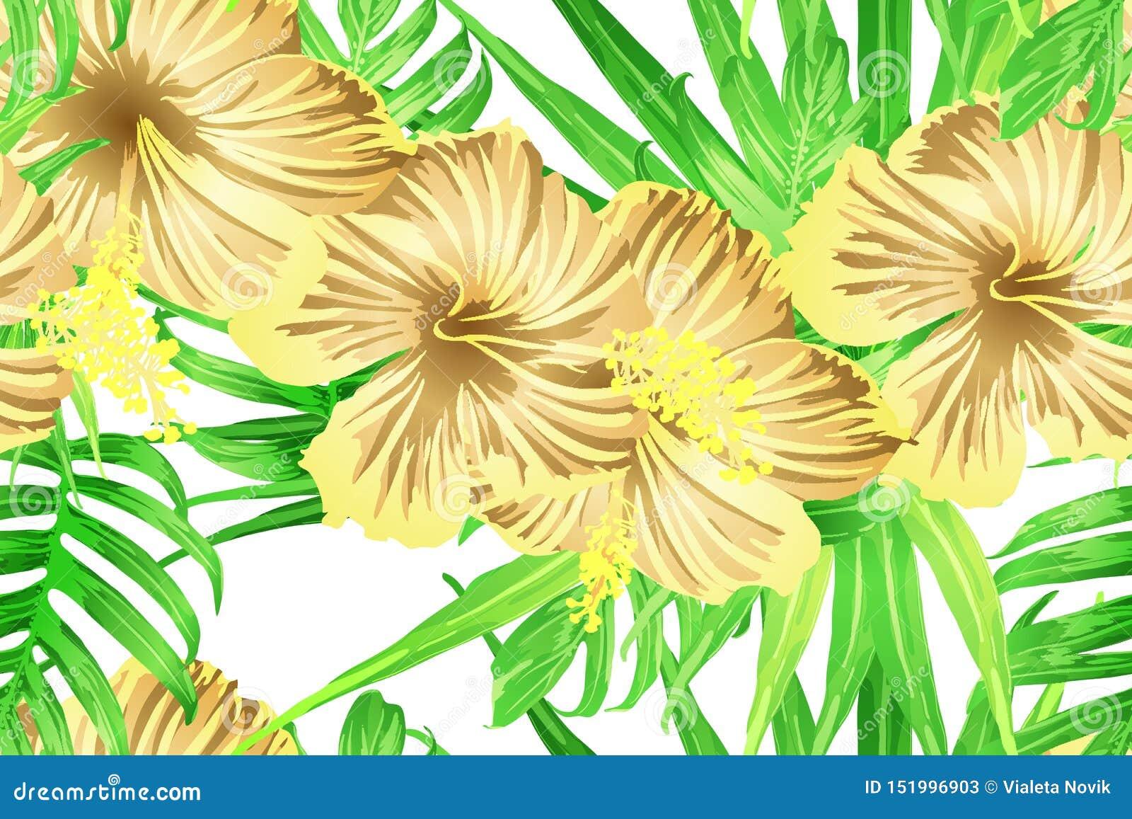Groen geel exotisch patroon