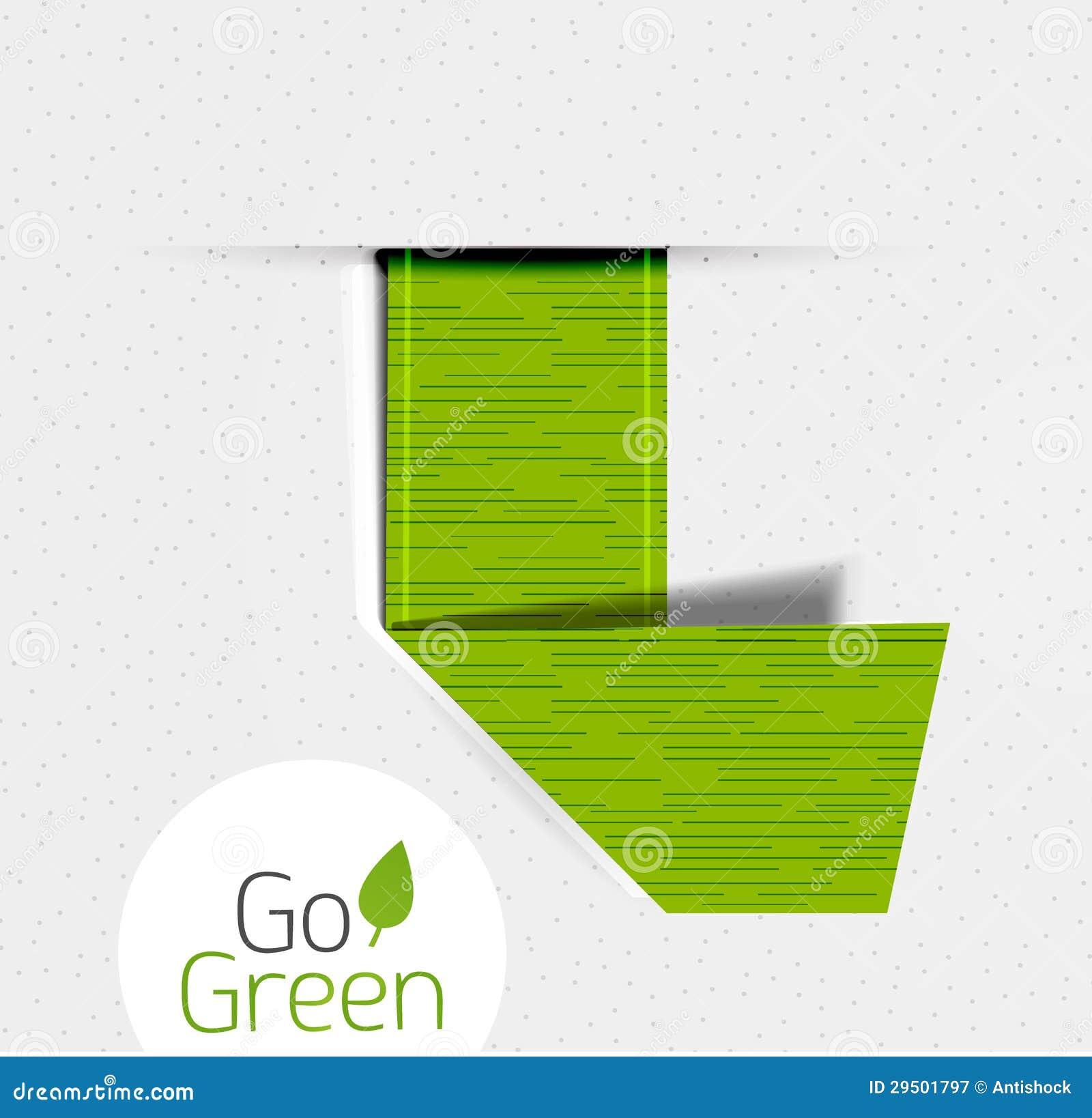 Groen gevouwen lint | markering | het ontwerp van etiketeco