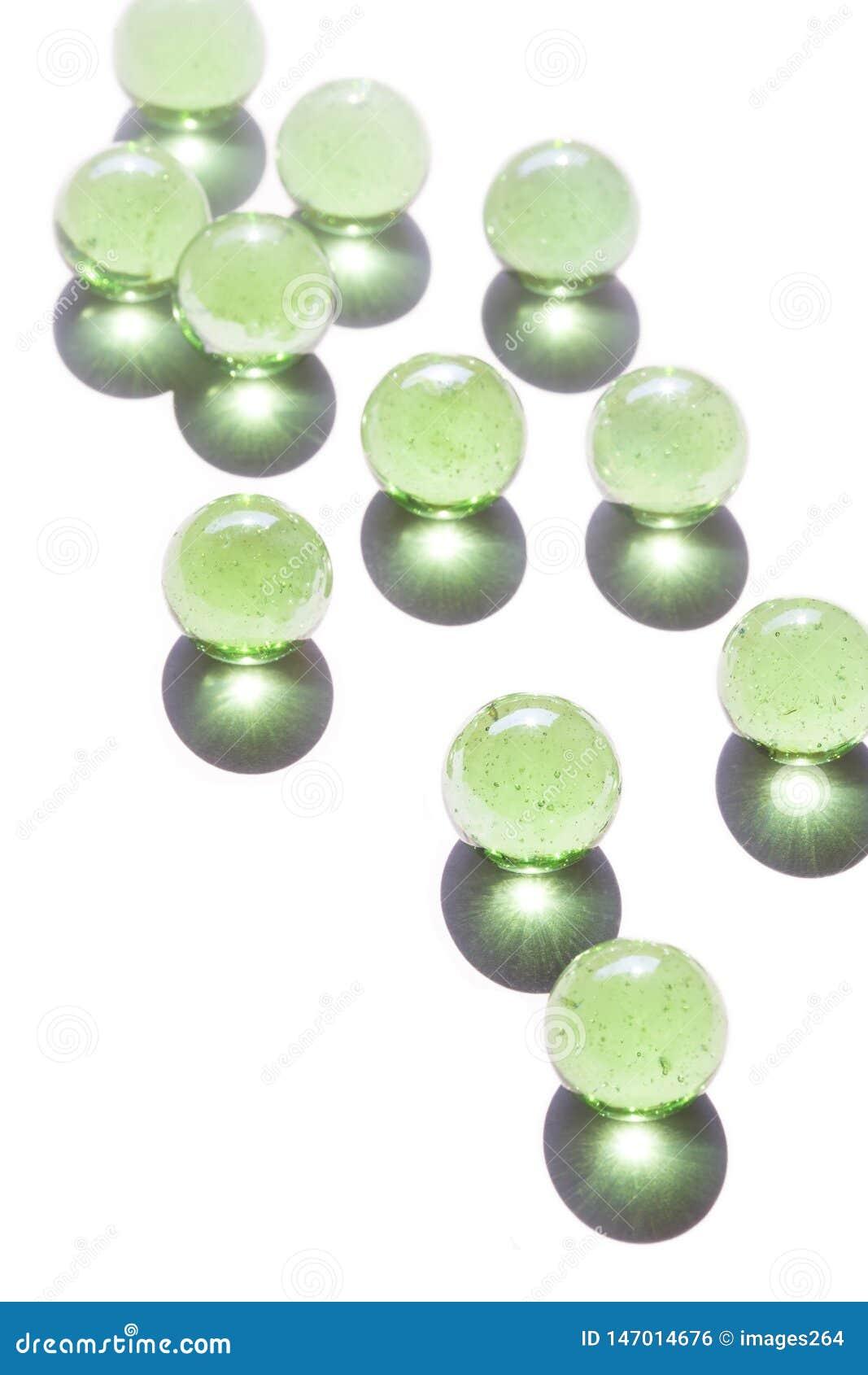 Groen glasmarmer