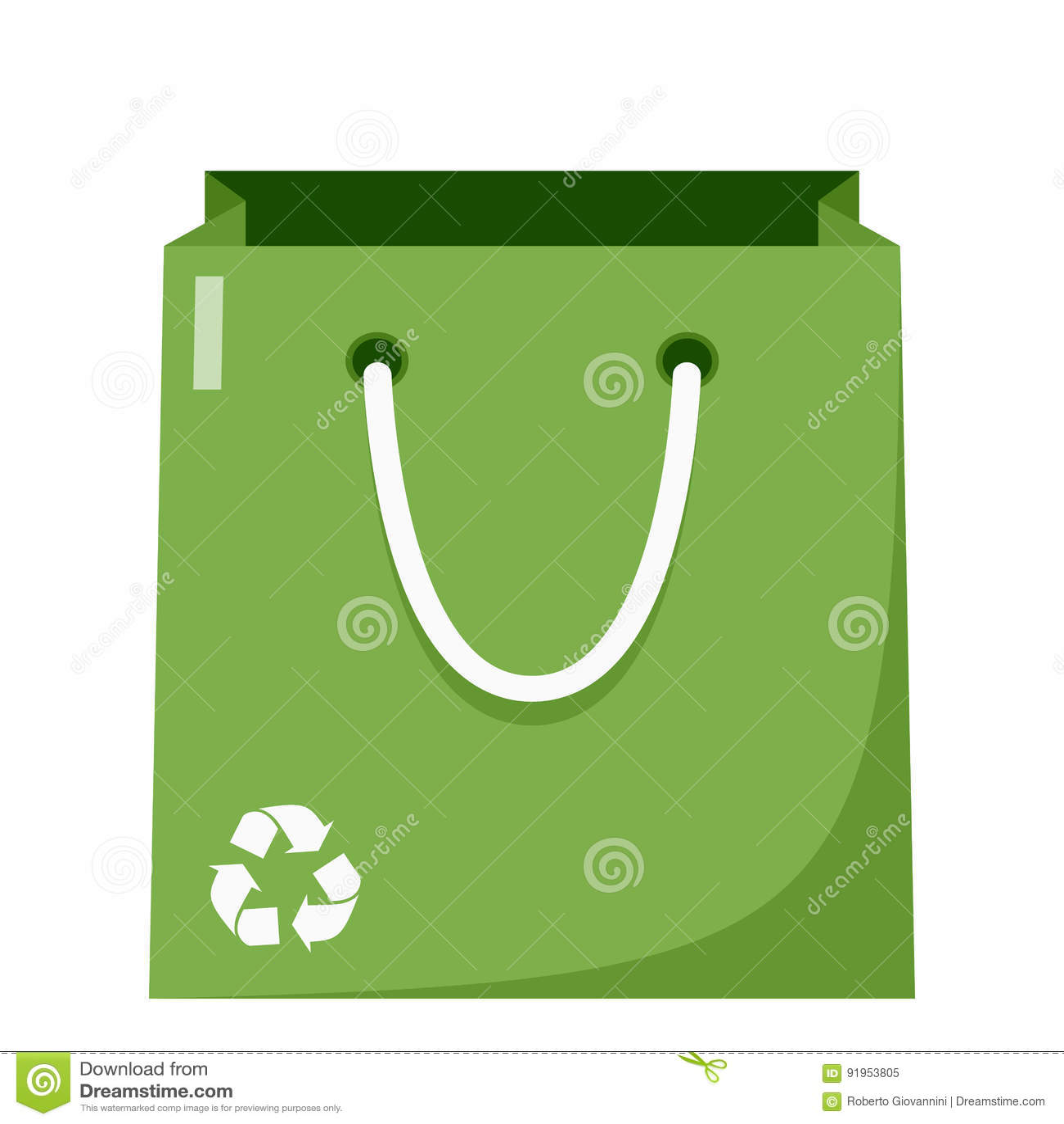 Groen het Winkelen Zak Vlak Pictogram op Wit
