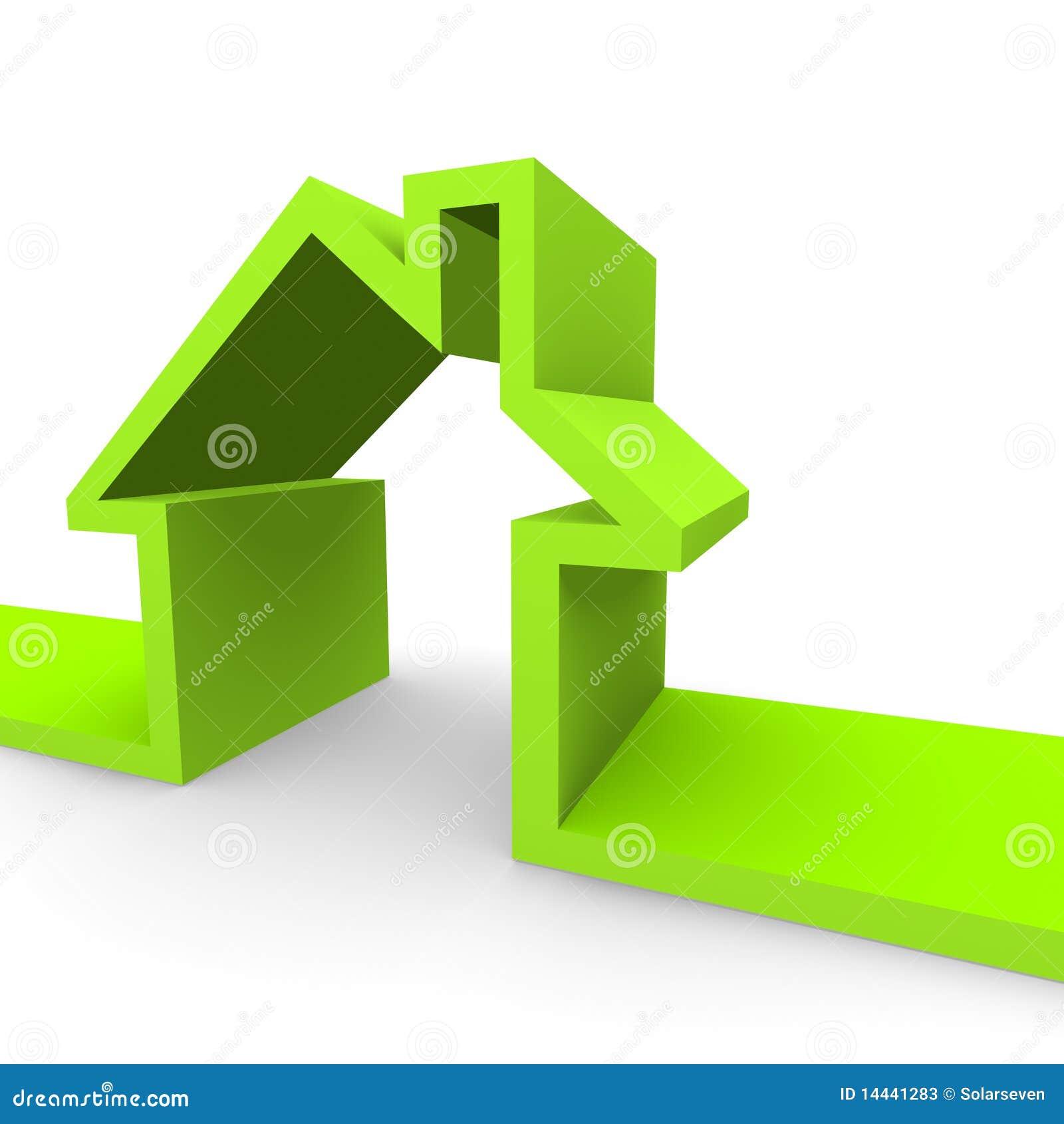Groen huis stock foto 39 s afbeelding 14441283 - Groen huis model ...
