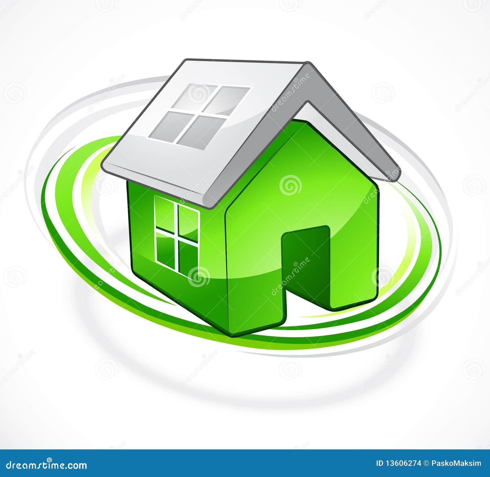 Groen huis met open dak vector illustratie afbeelding bestaande uit opgeheven 13606274 - Groen huis model ...