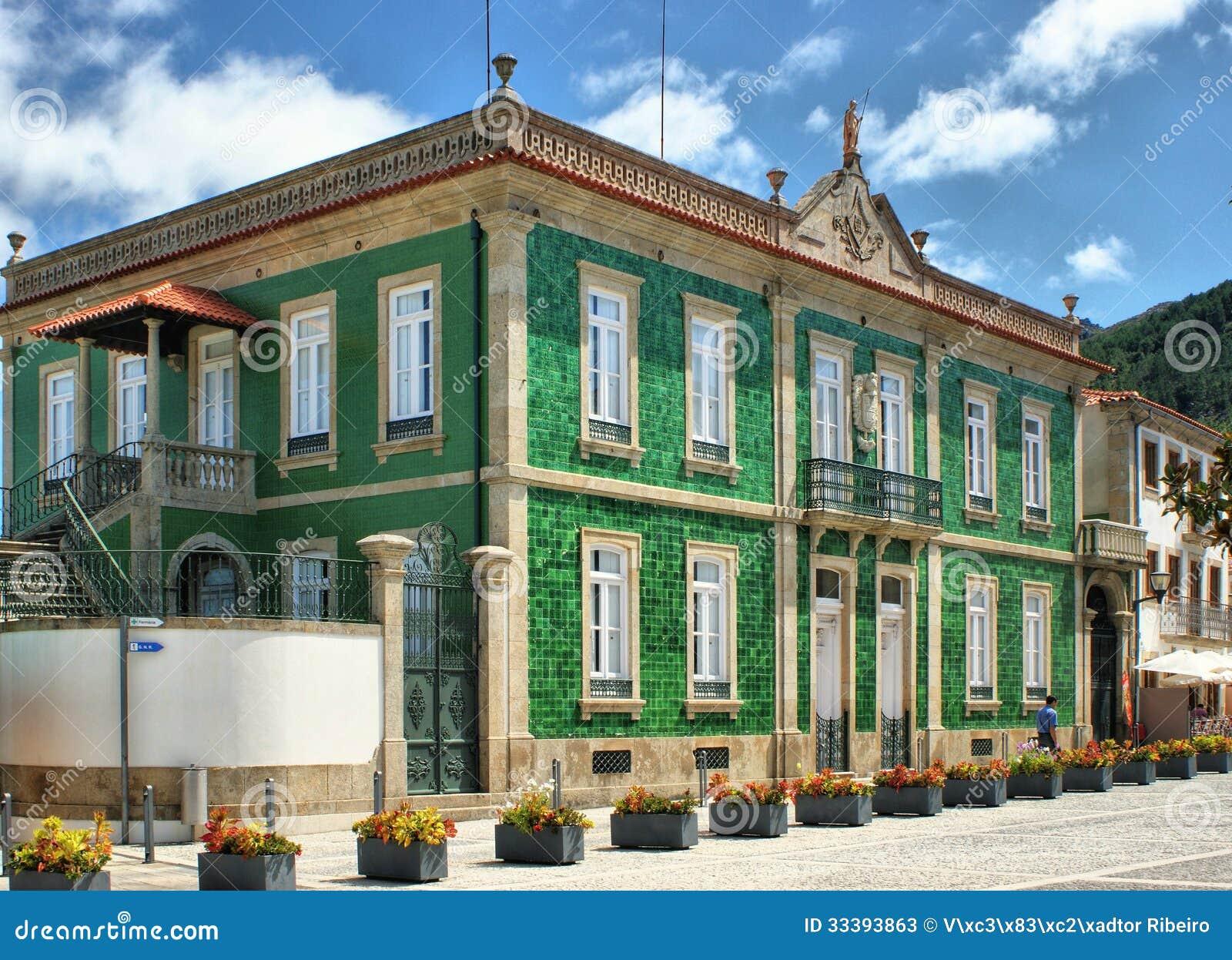 Groen huis in vila nova de cerveira stock afbeelding afbeelding bestaande uit gang mening - Vilanova de cerveira ...