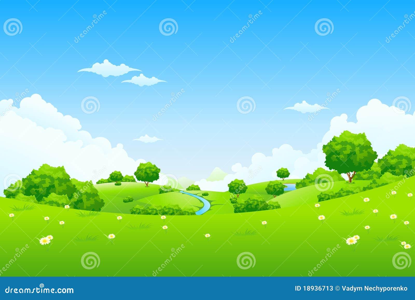 Groen Landschap met bomen