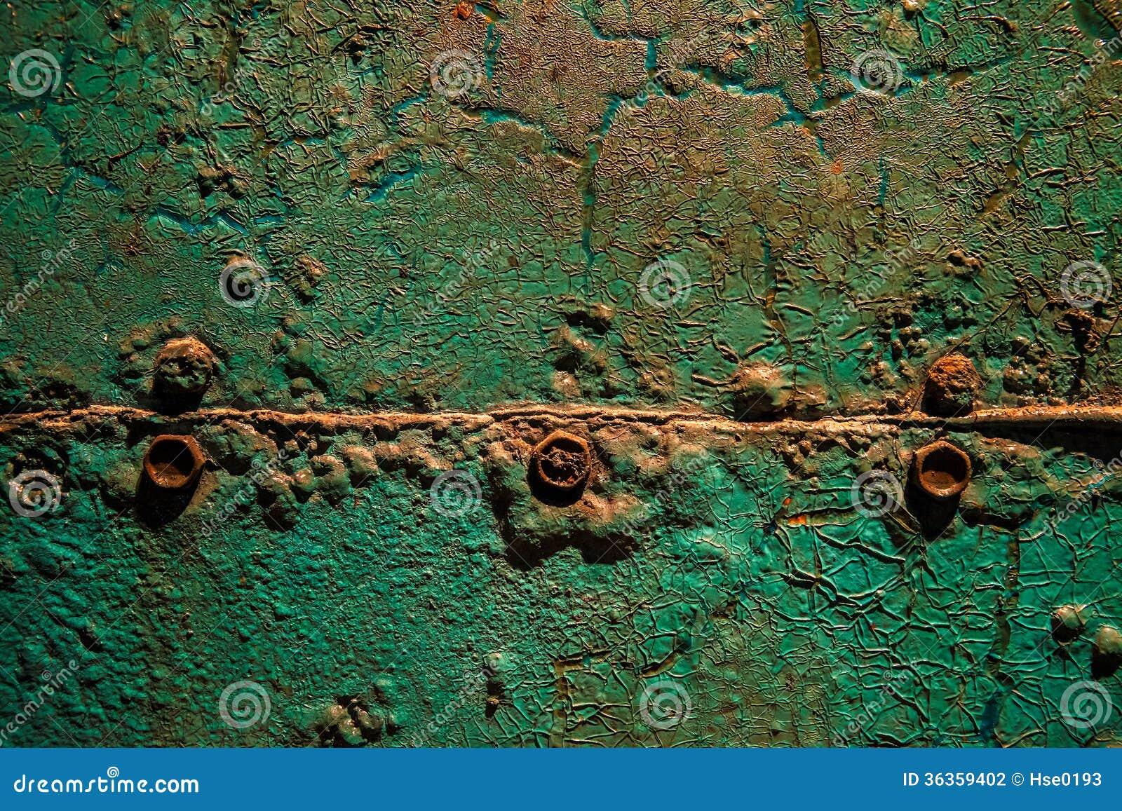 Groen roestig metaal
