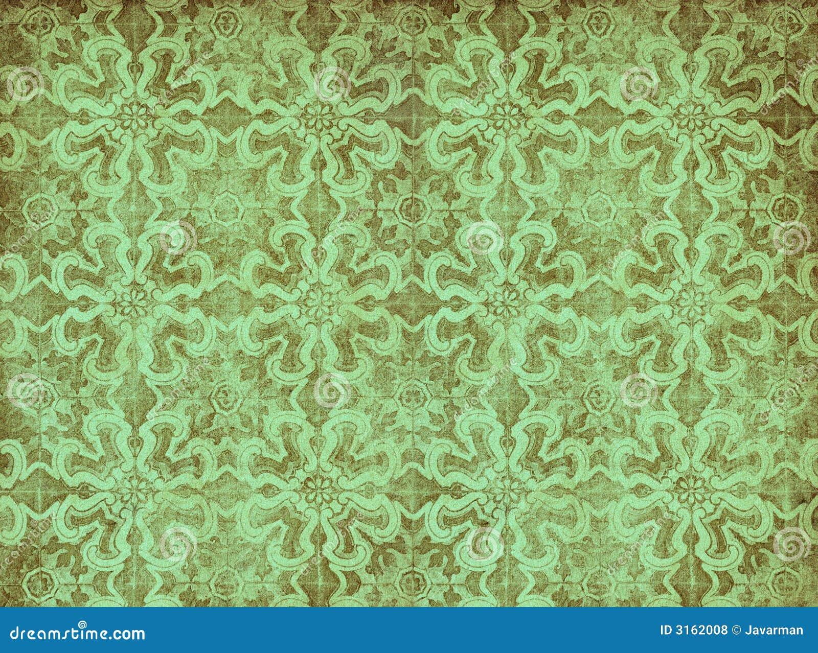 Behang Oud Groen.Groen Uitstekend Behang Stock Illustratie Illustratie Bestaande Uit