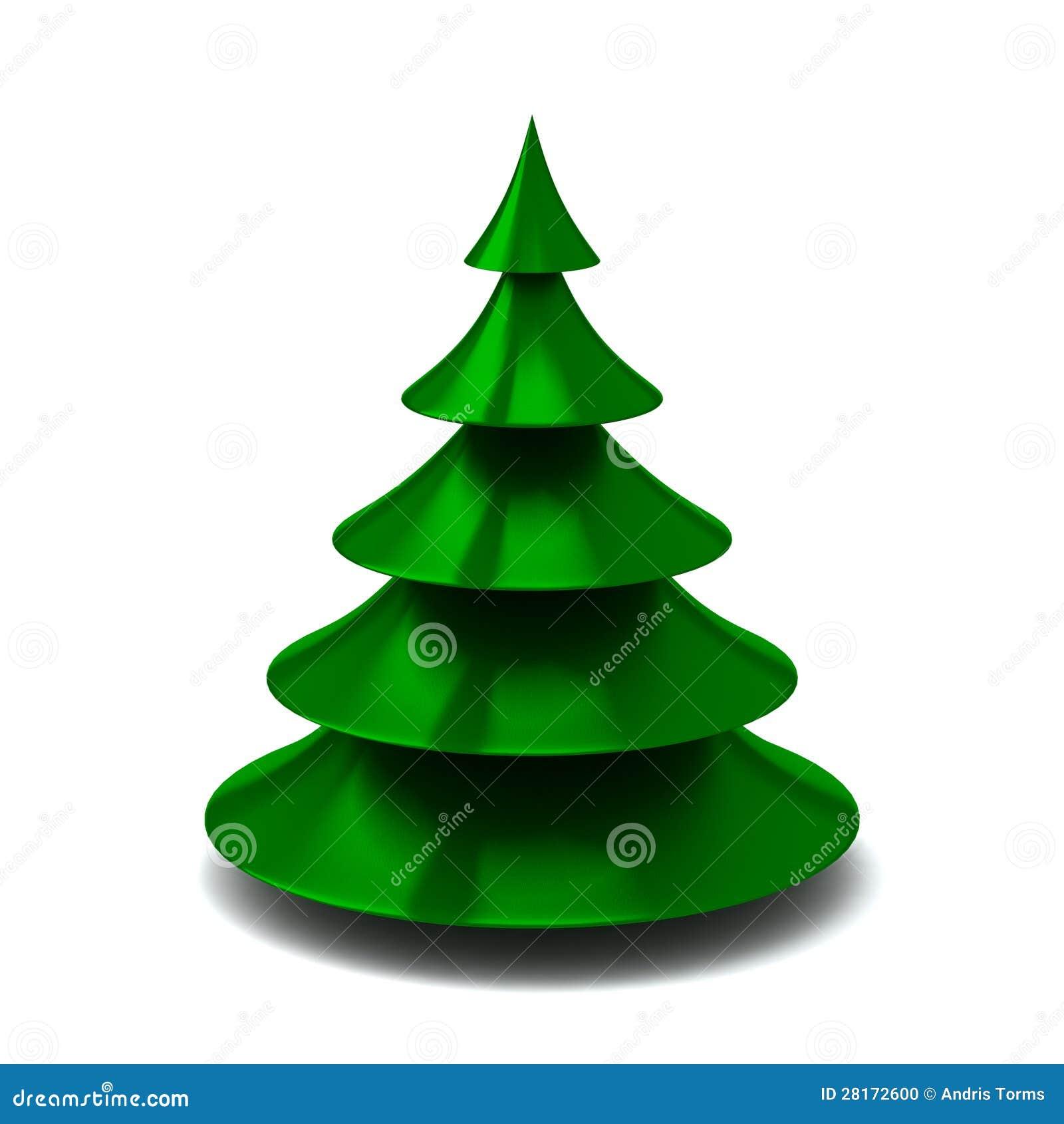 Groene 3d Kerstboom Stock Illustratie Illustratie Bestaande Uit