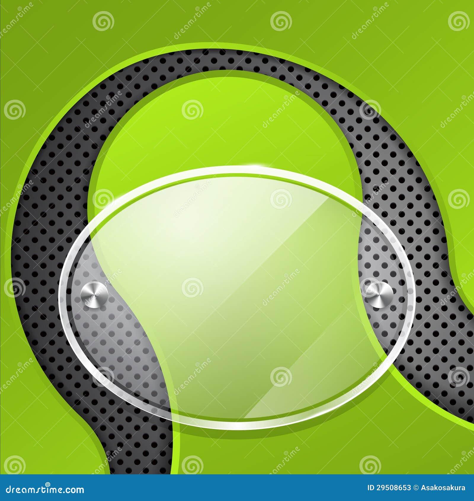 Groene achtergrond met glaskader