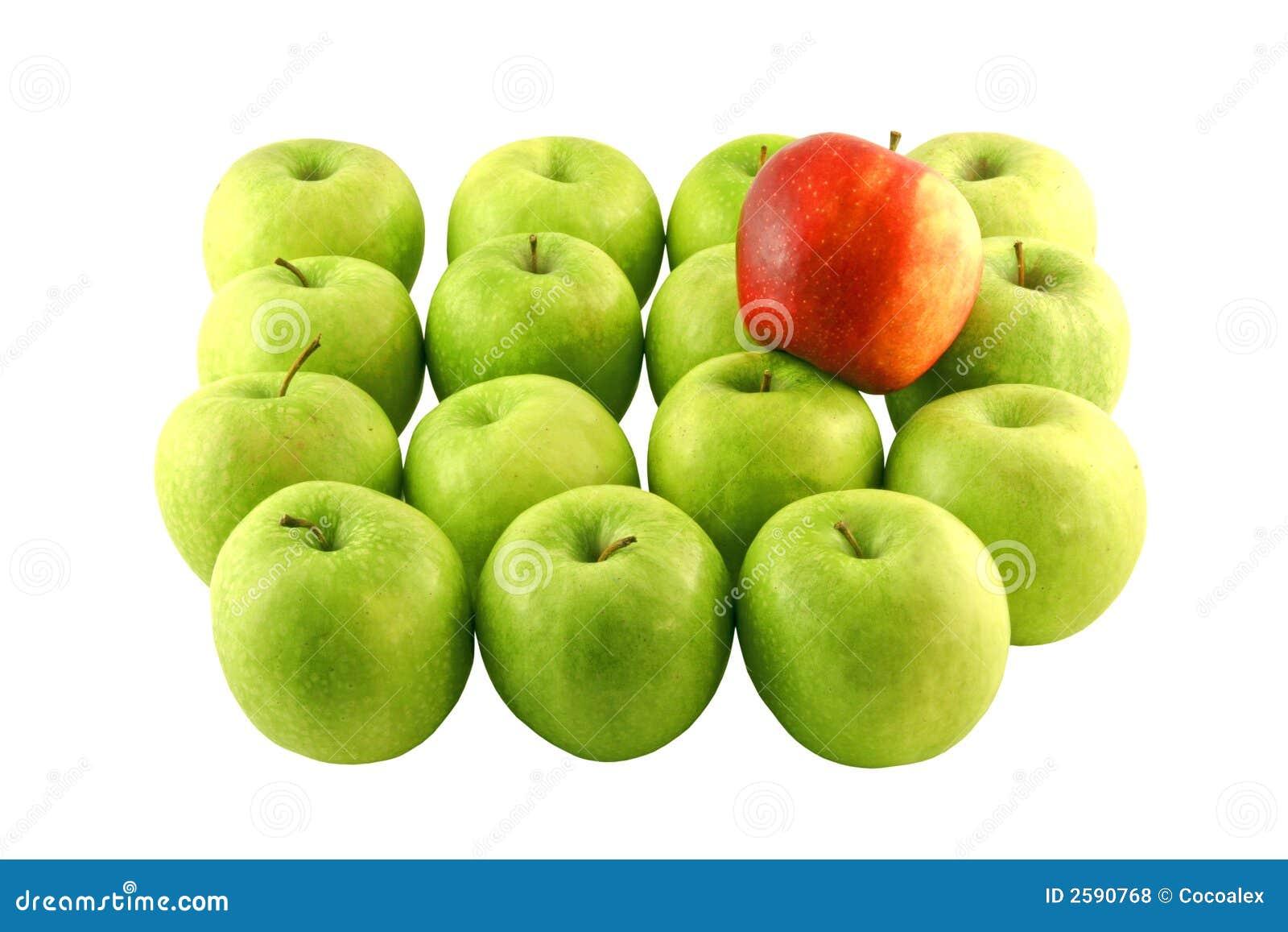 Groene appelen en rode