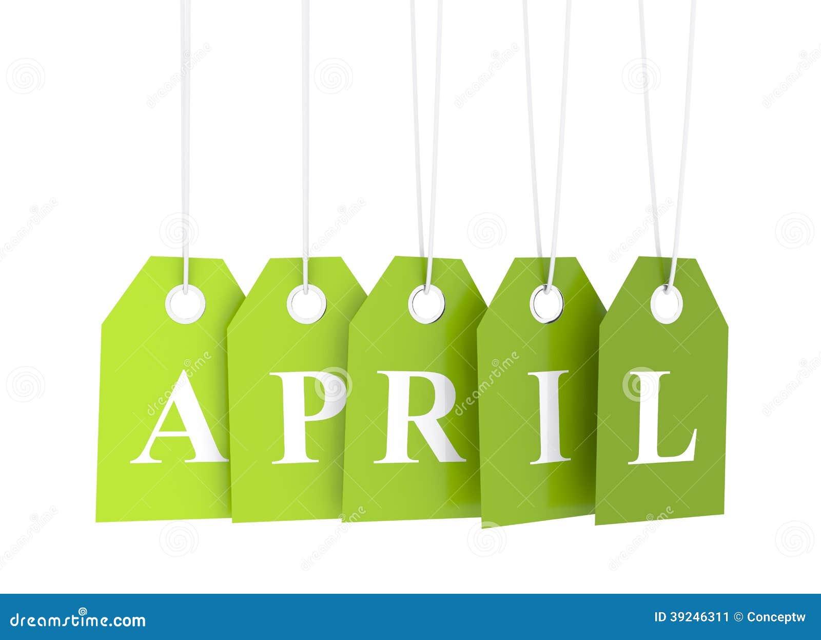 Groene april-etiquette