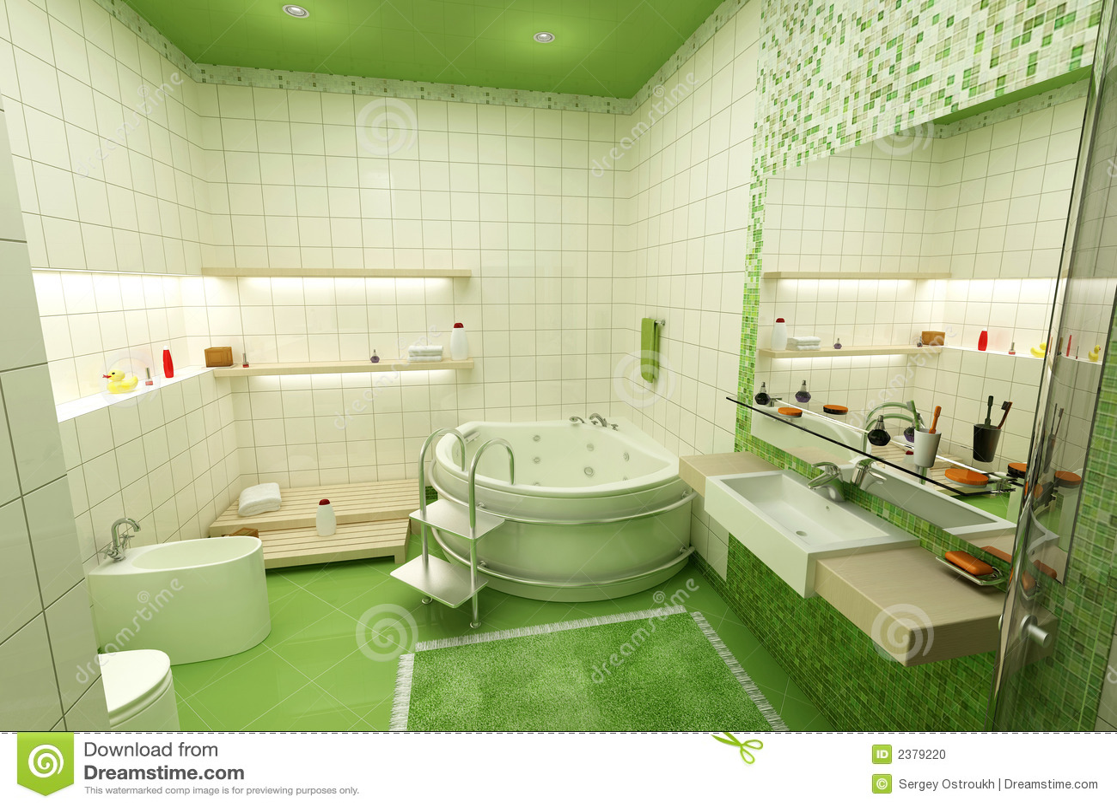 Groene badkamers