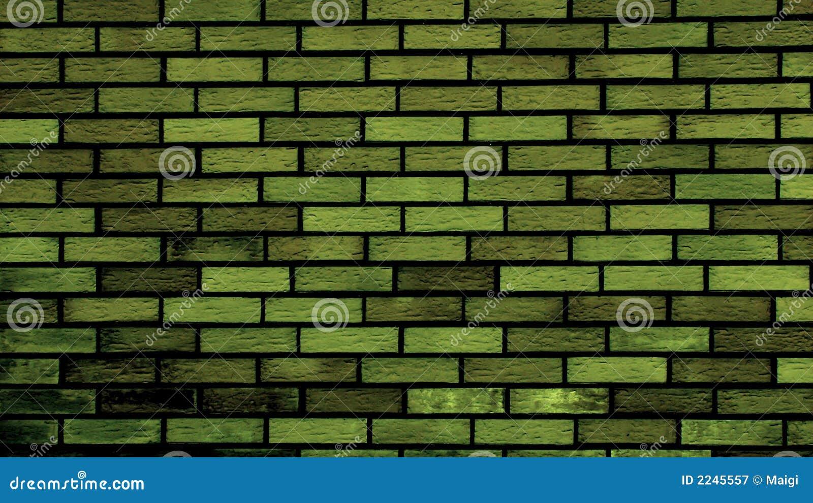 Groene Bakstenen Muur Royalty-vrije Stock Fotografie - Afbeelding ...