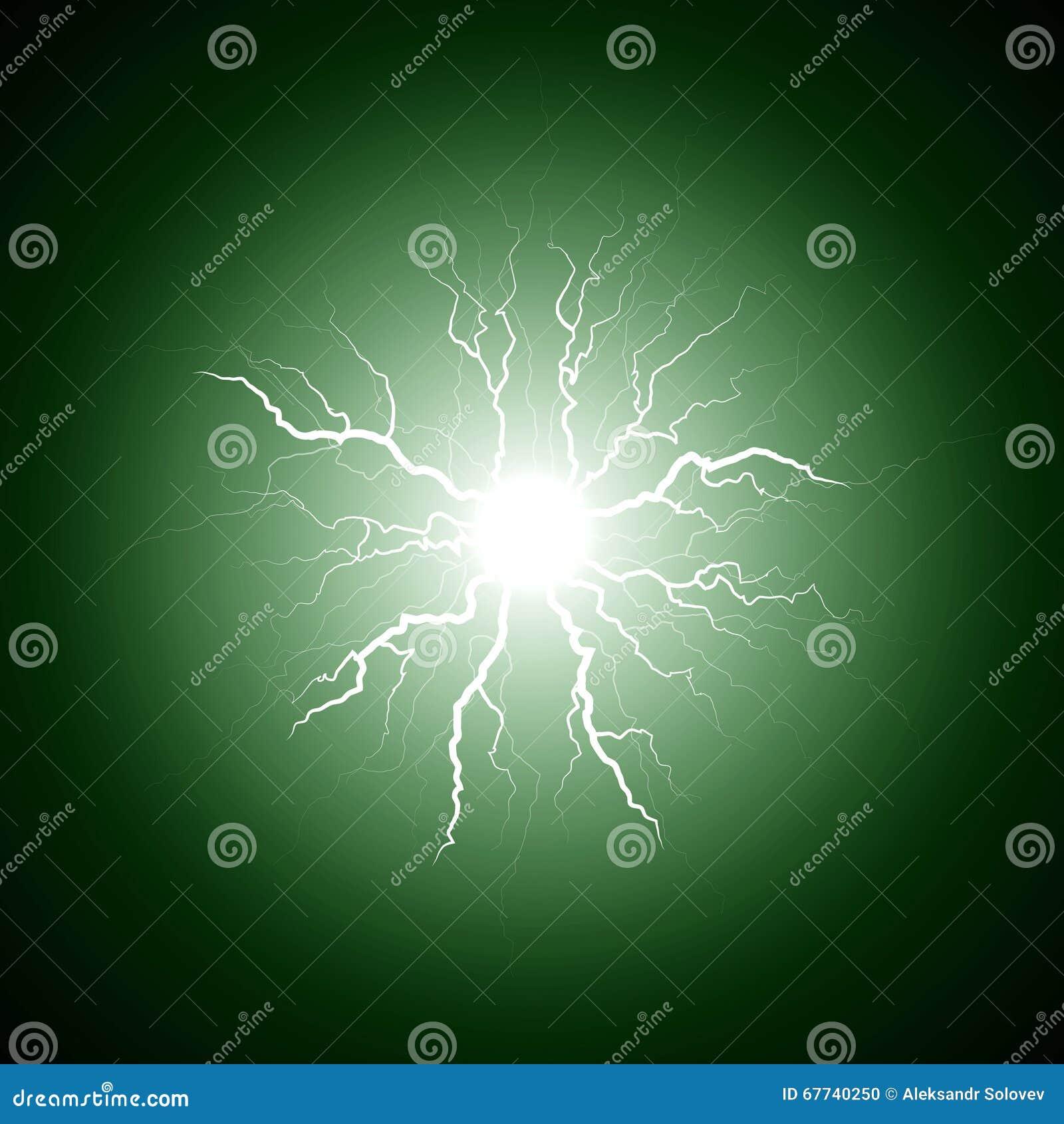 Groene bliksem van het centrum