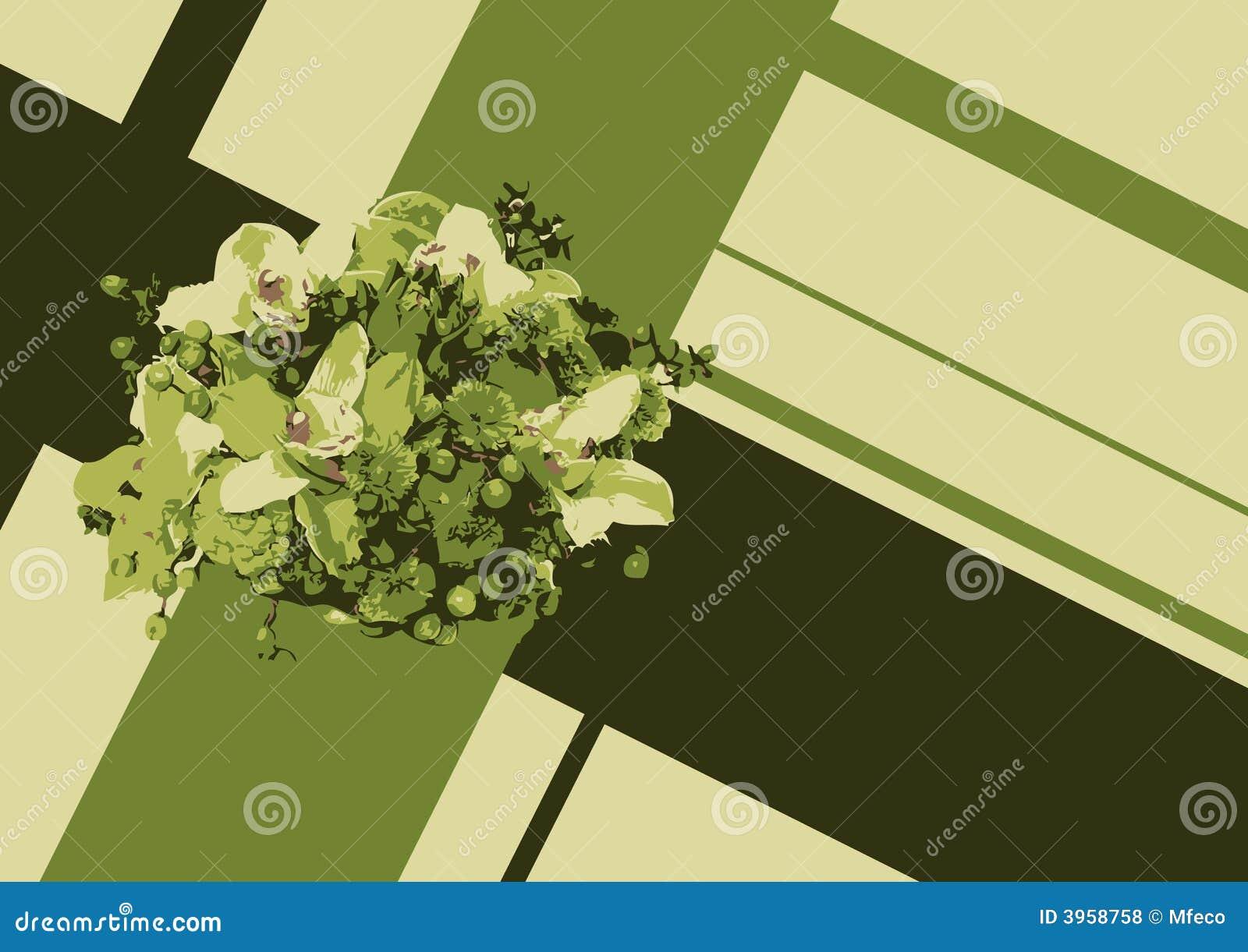 Groene bloem in kruis