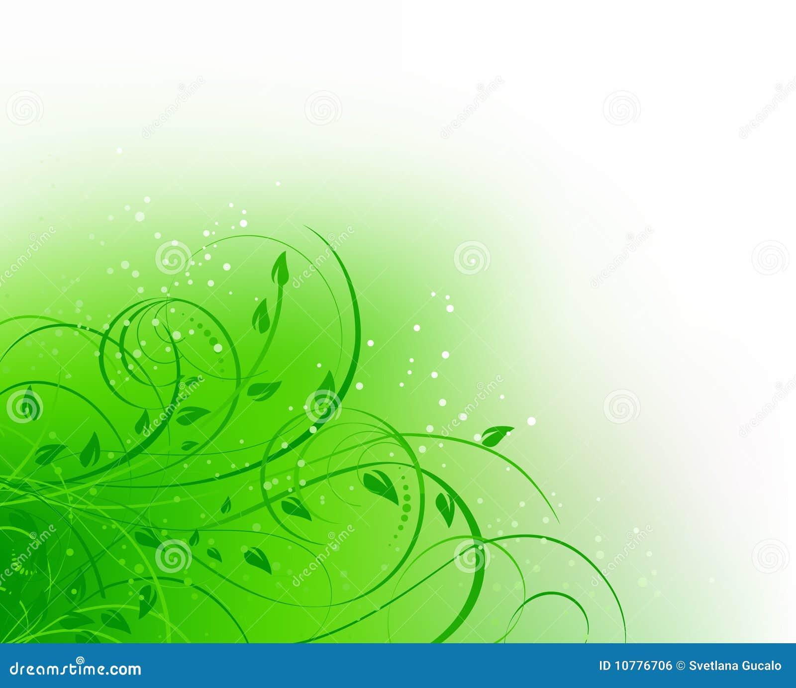 Groene bloemen abstracte kromme