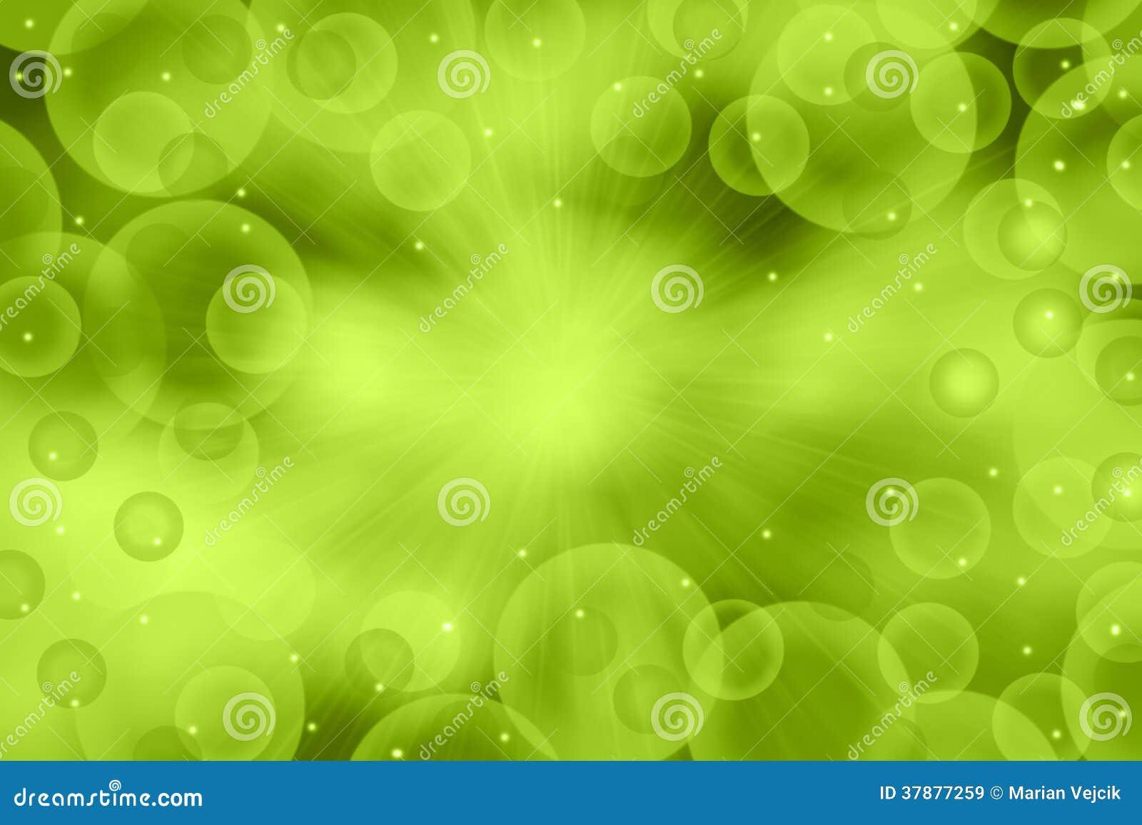 Groene bokehachtergrond
