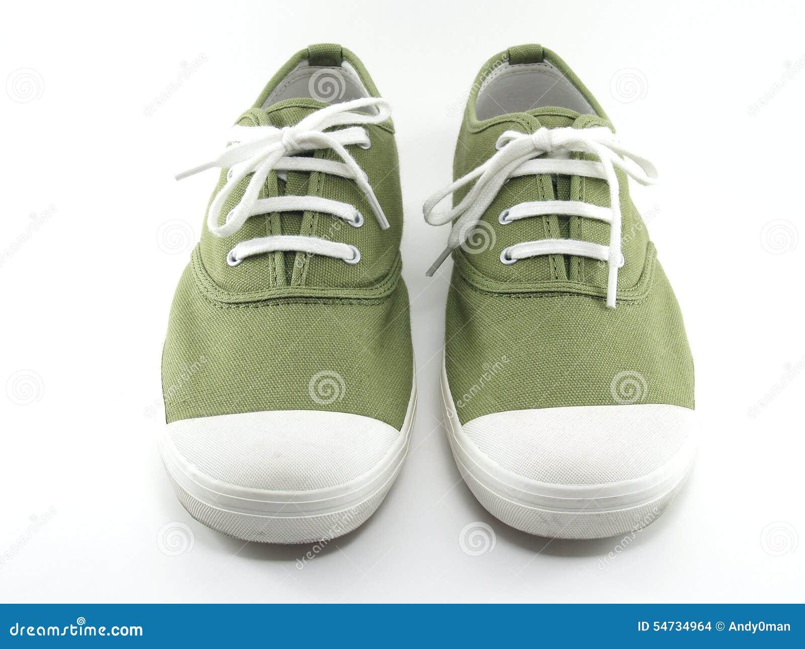 Groene Canvasschoenen