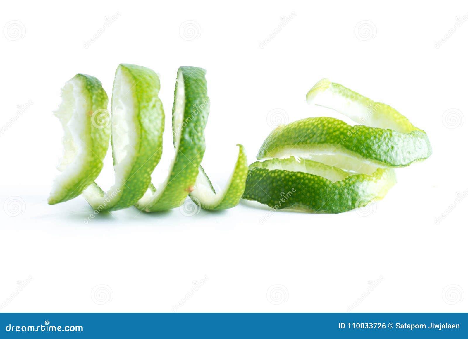 Groene citroendraai op wit