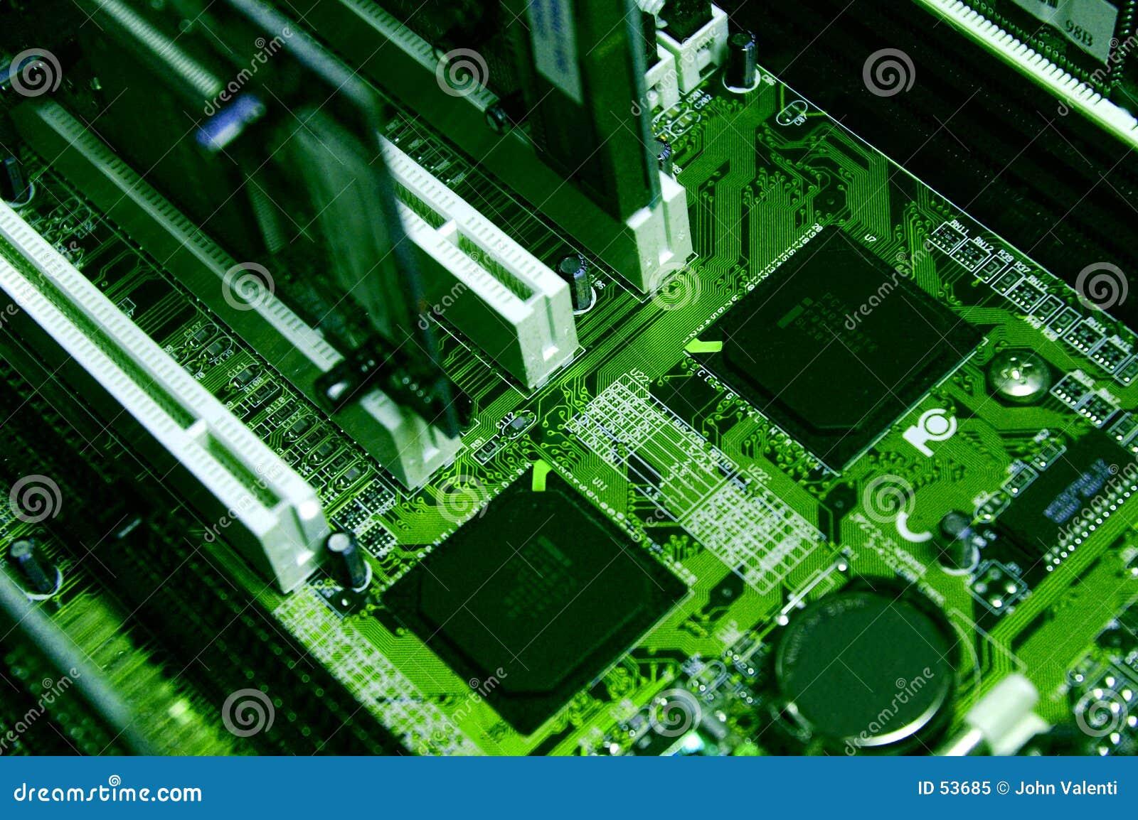 Groene de componenten van PC