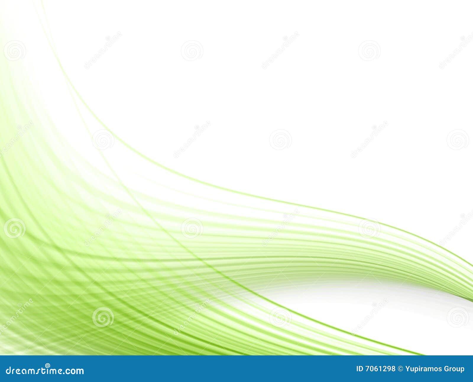 Groene dynamische lijnen