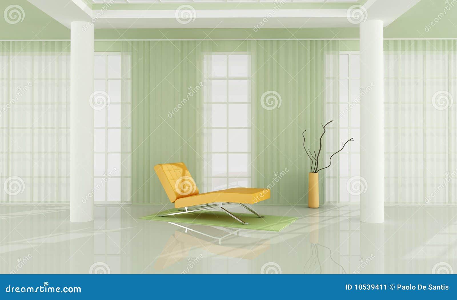 Groene En Witte Woonkamer Stock Afbeelding - Afbeelding: 10539411