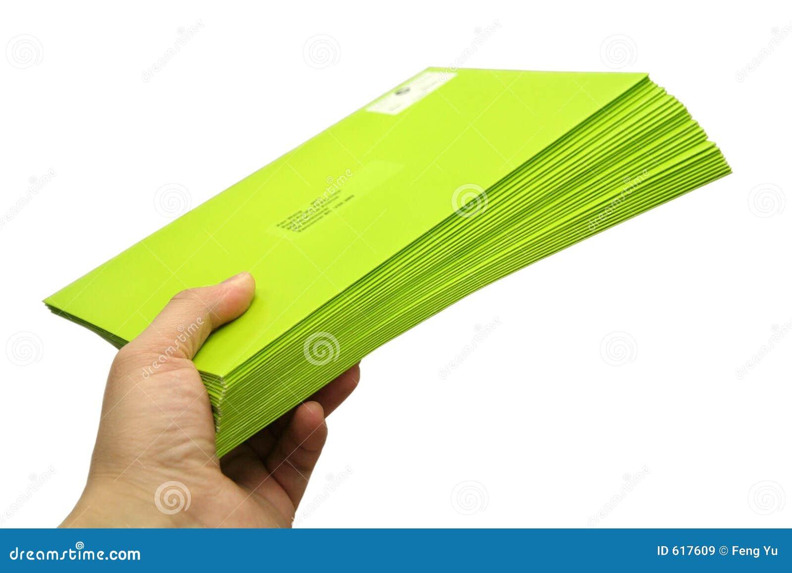 Groene enveloppen