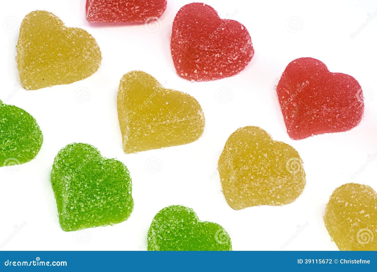 Groene Gele en Rode harten