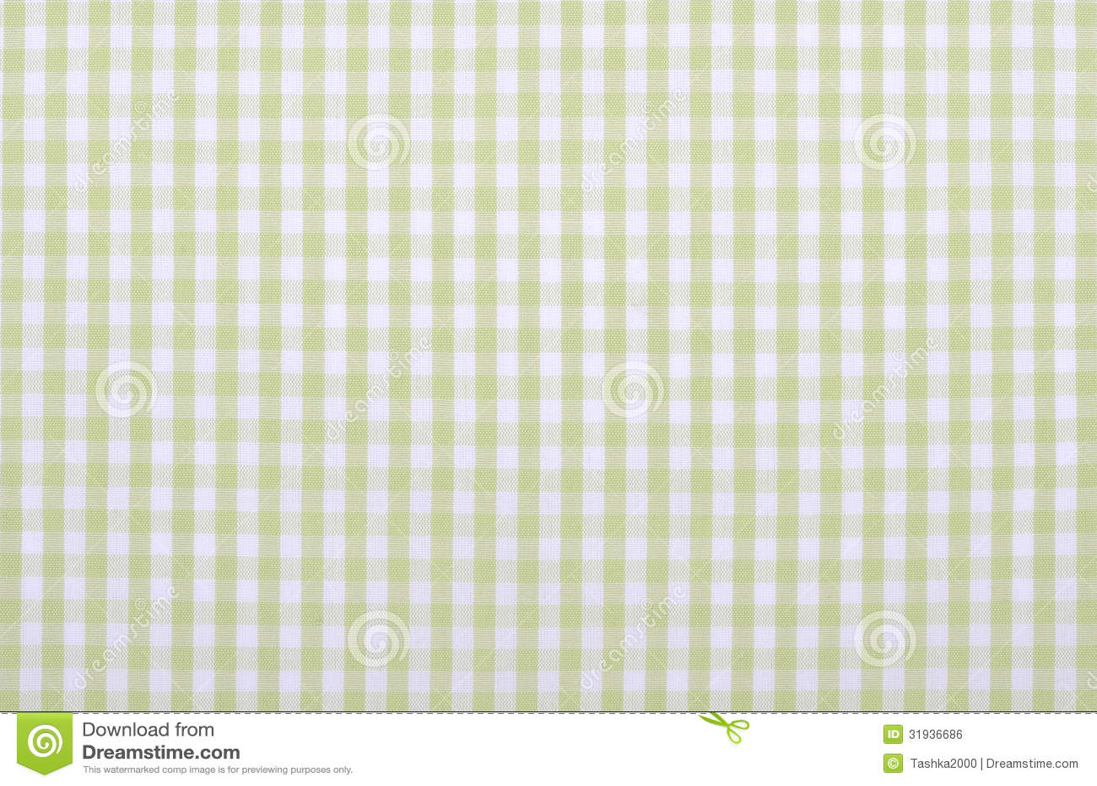 Groene geruite stof