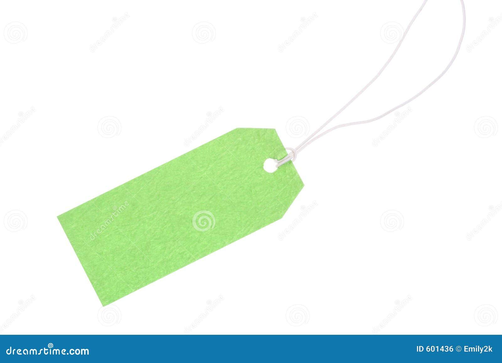 Groene giftmarkering met katoenen draad