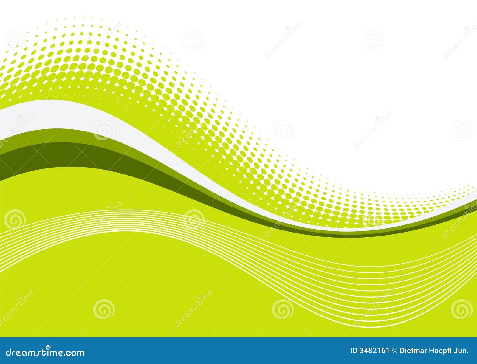 Groene golvende bevallige lijnen