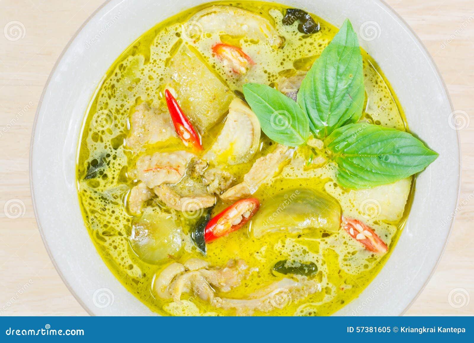 Groene kerriekip, Thais traditioneel en populair voedsel, Groen Cu