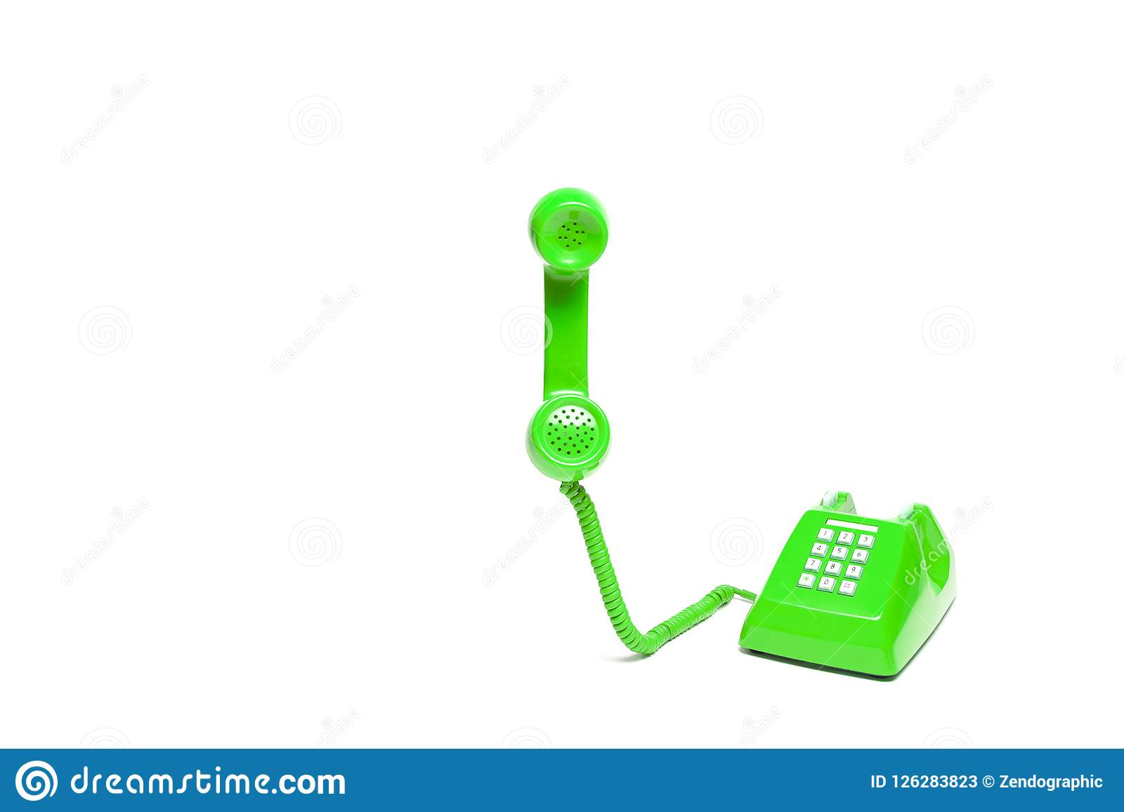 Groene klassieke telefoon