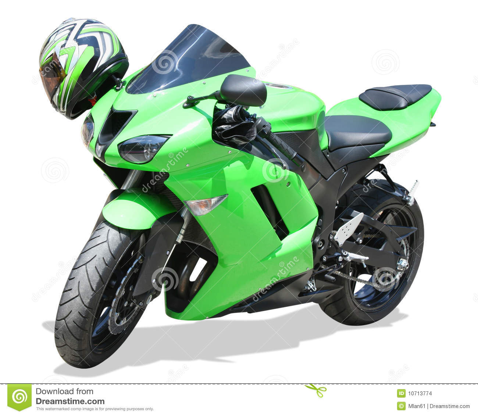 Groene Motorfiets