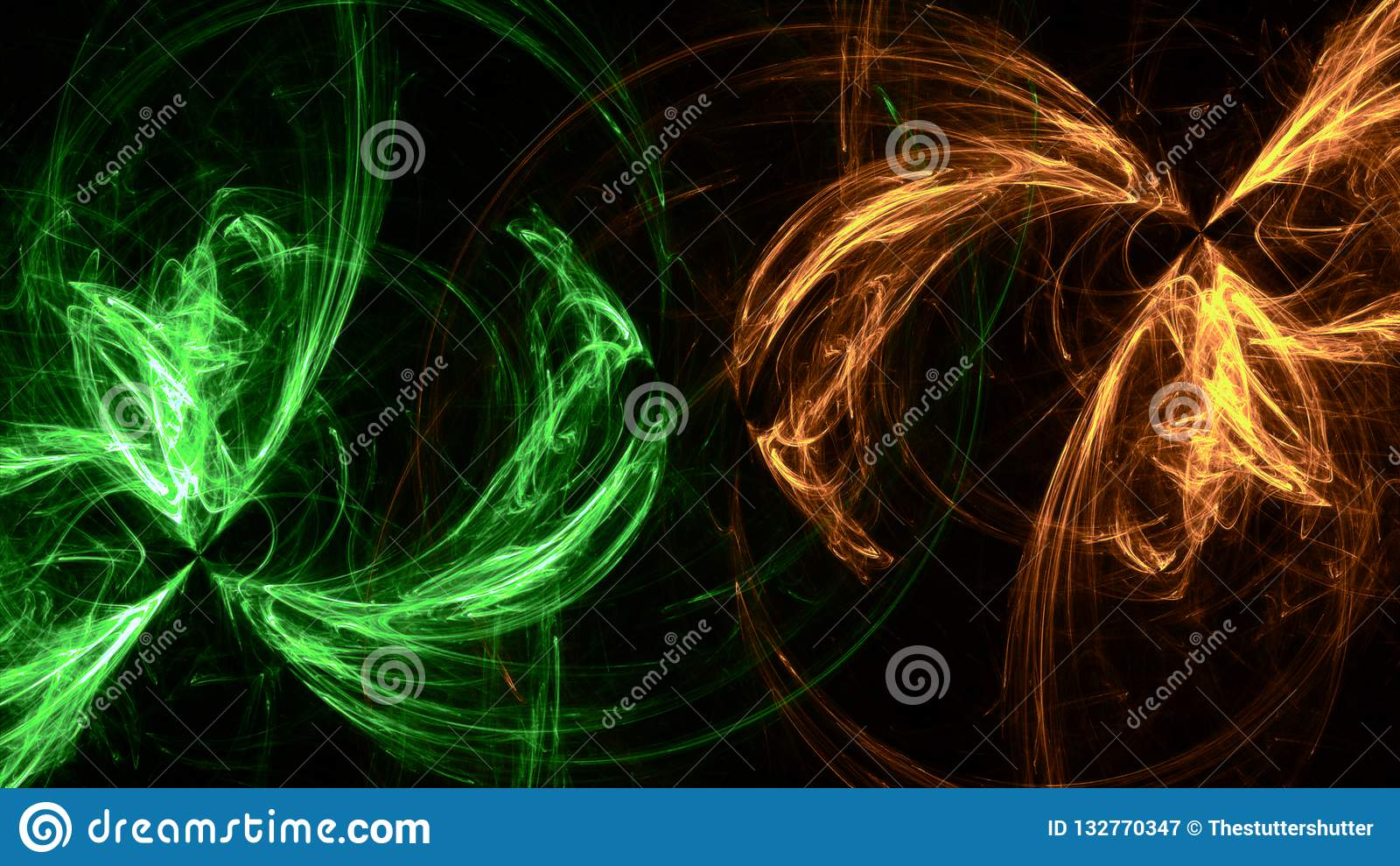Groene Neon geometrische lichte vormen Als achtergrond