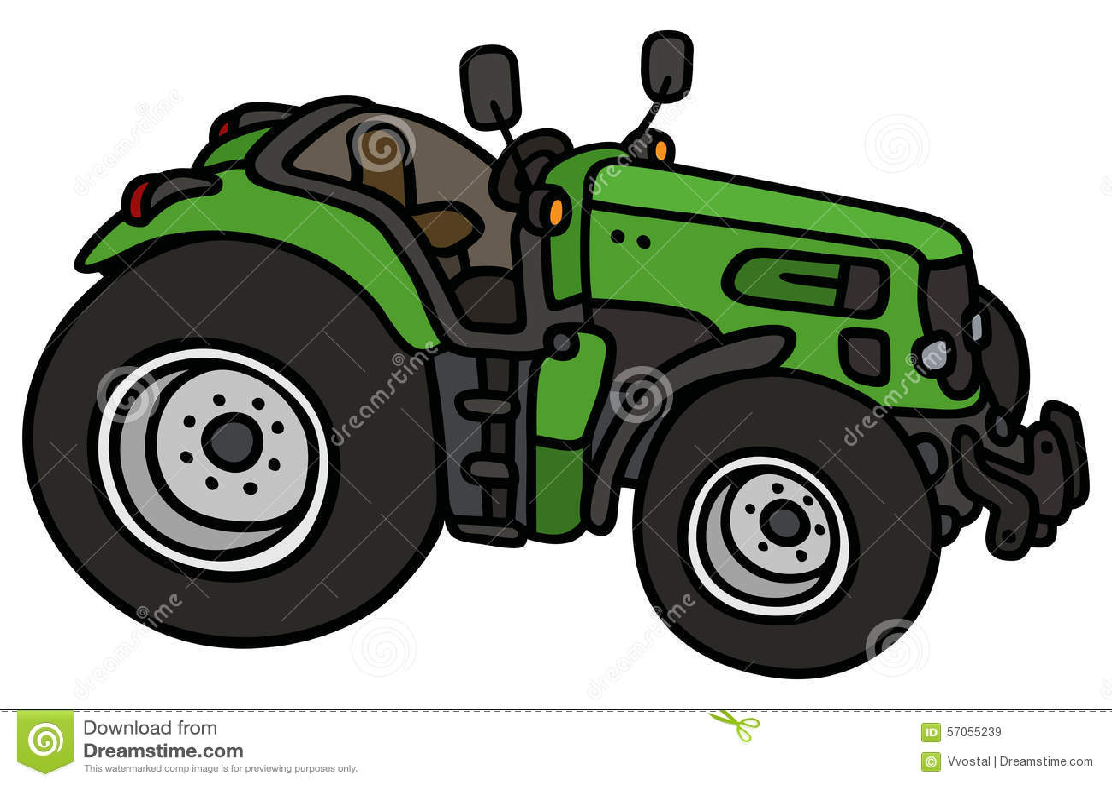 Groene open tractor
