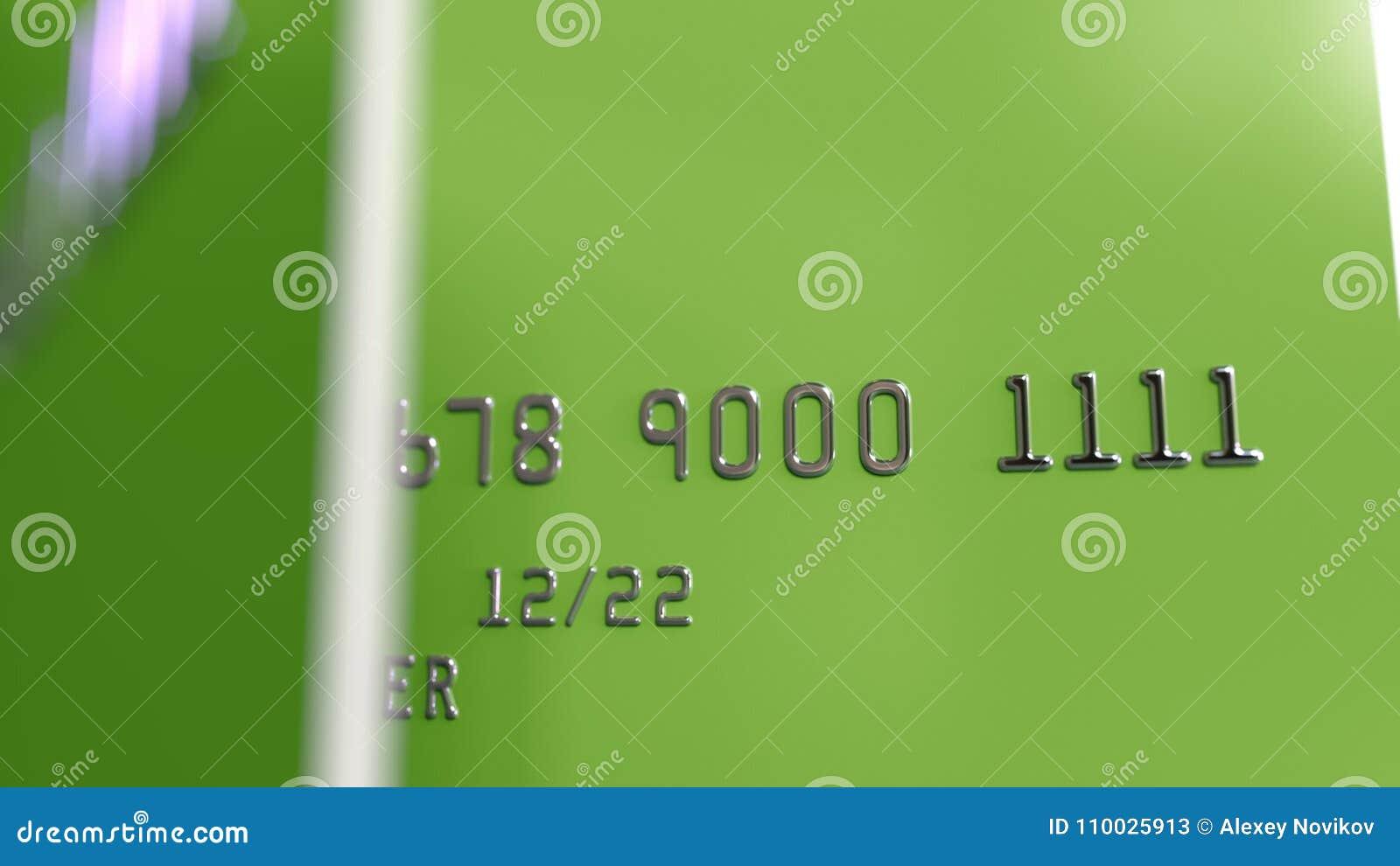 Groene plastic kaarten, het 3D teruggeven
