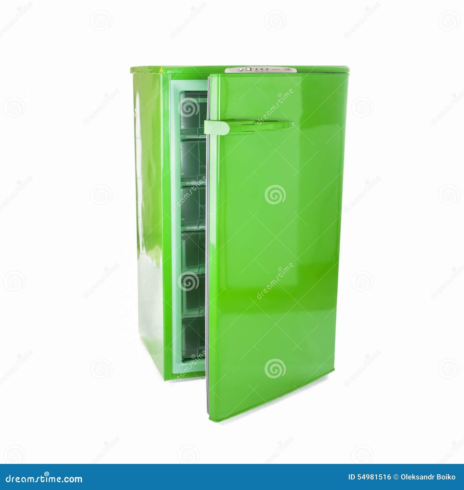 Groene retro ijskast stock foto afbeelding 54981516 - Koelkast groen ...