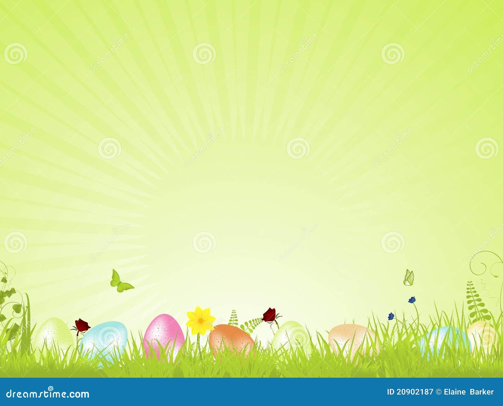Groene Rustige Pasen Achtergrond Vector Illustratie