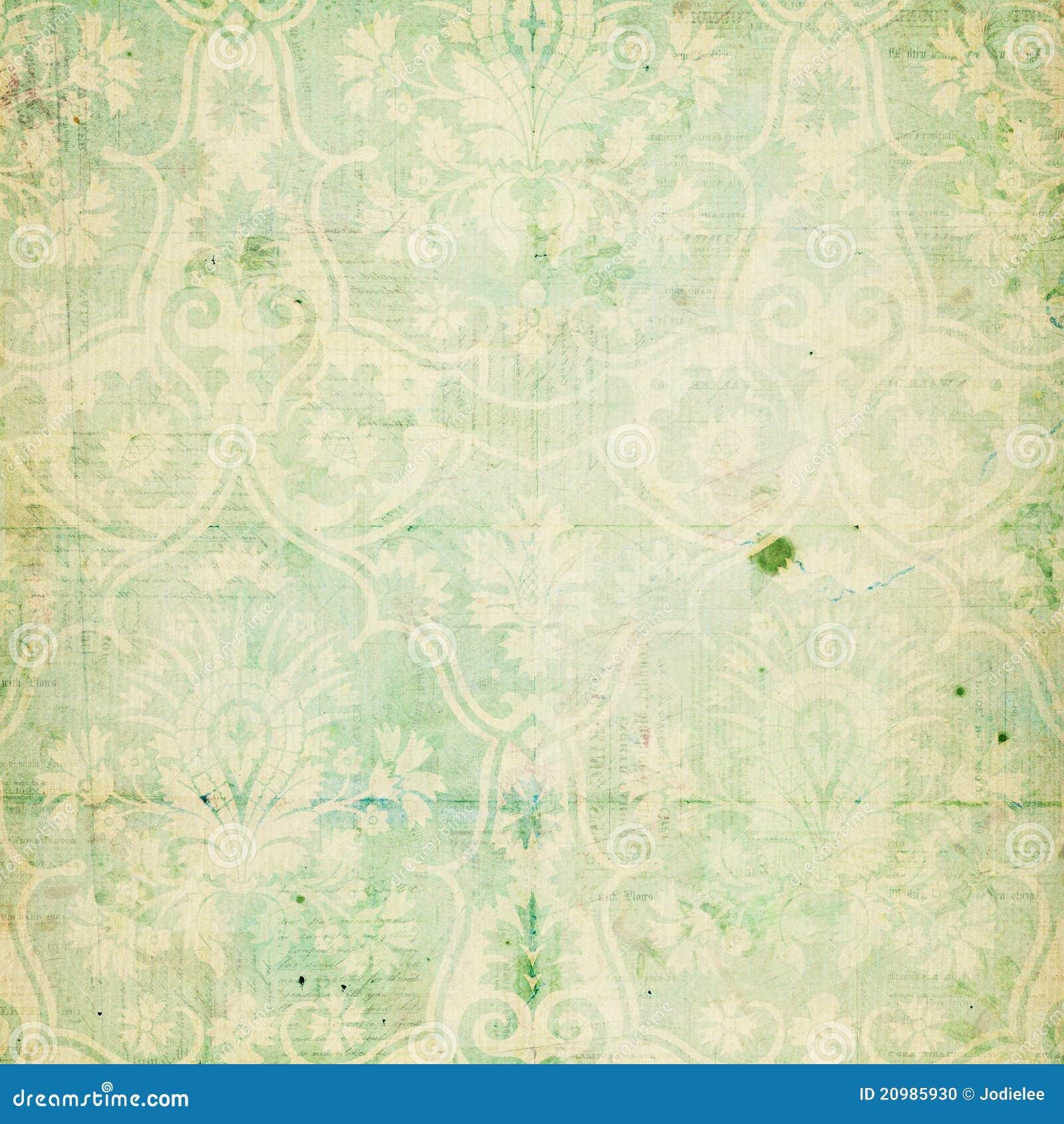 Groene sjofele elegante uitstekende damasttextuur