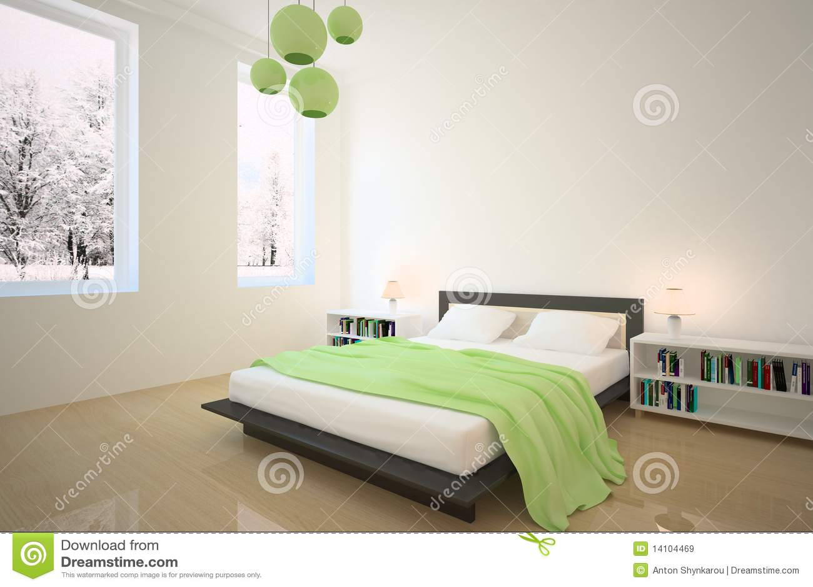 Groene slaapkamer royalty vrije stock afbeeldingen   afbeelding ...