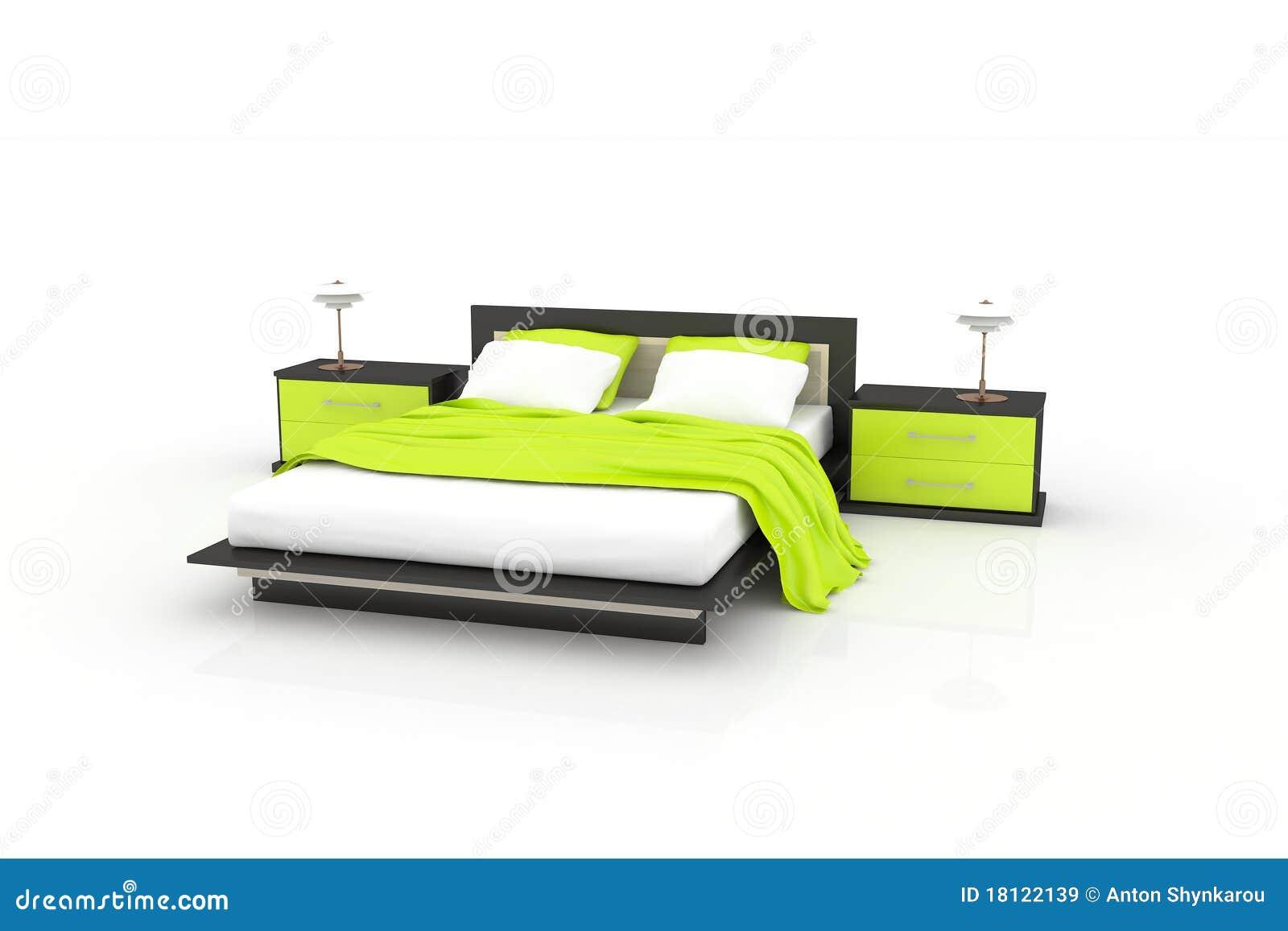 Slaapkamer Afbeeldingen : Groene Slaapkamer Royalty-vrije Stock ...