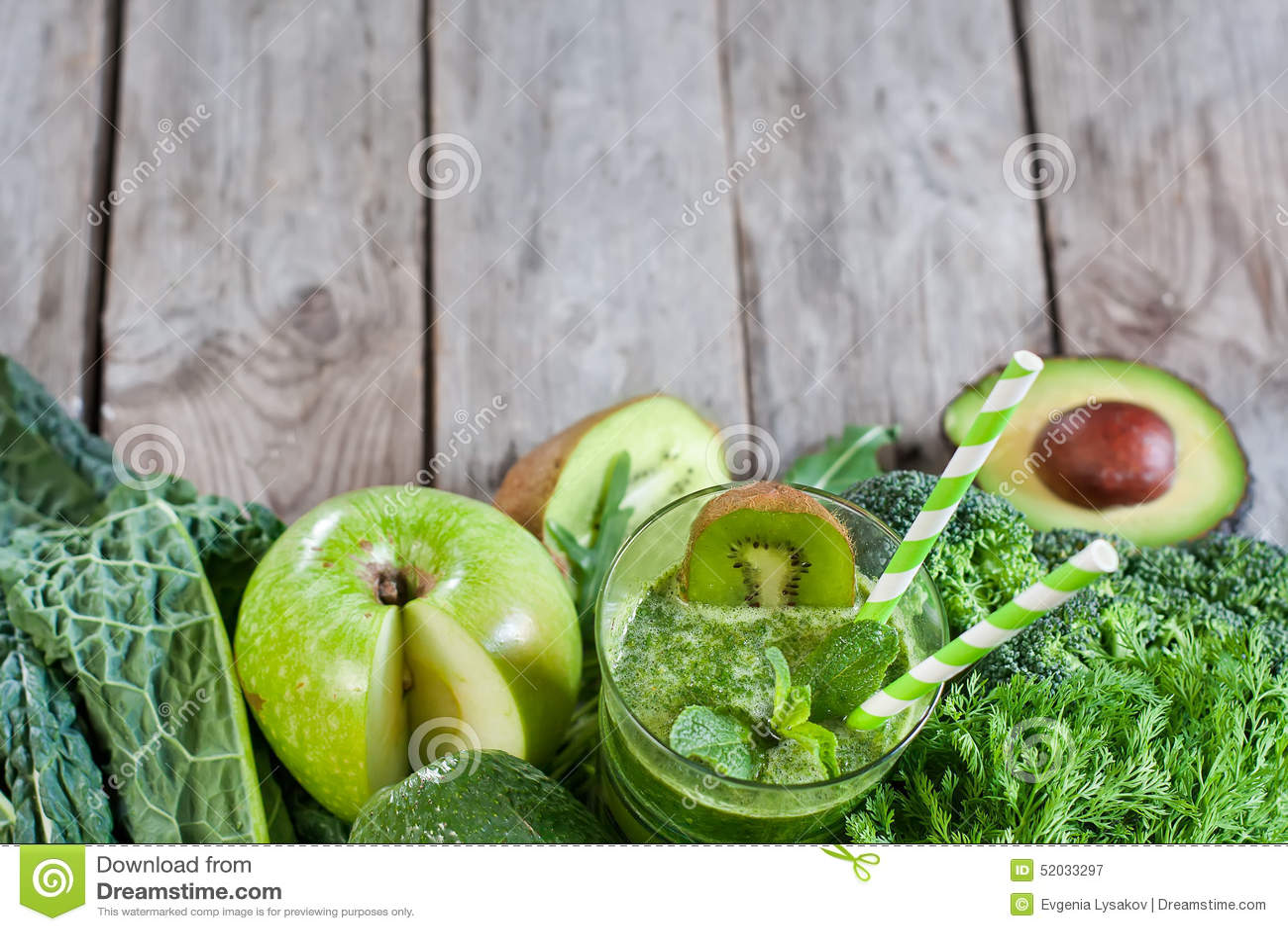 Groene smoothieachtergrond