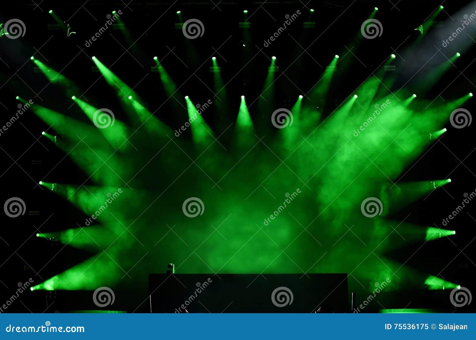 Groene stadiumlichten