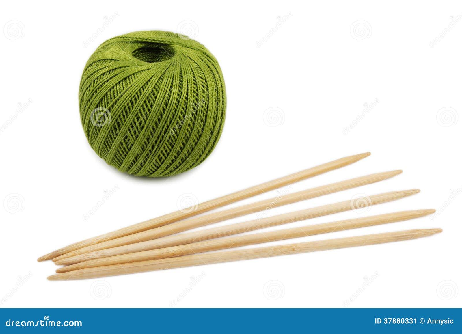 Groene streng en breinaalden
