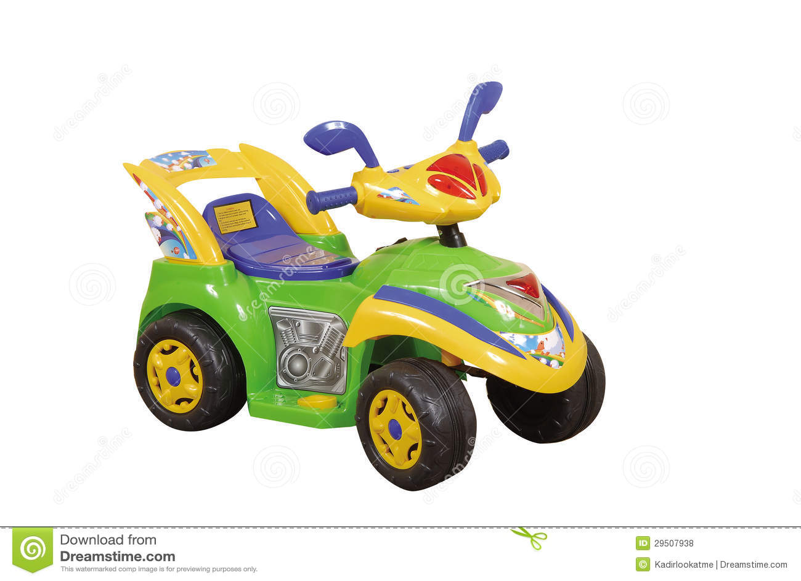 Groene stuk speelgoed auto