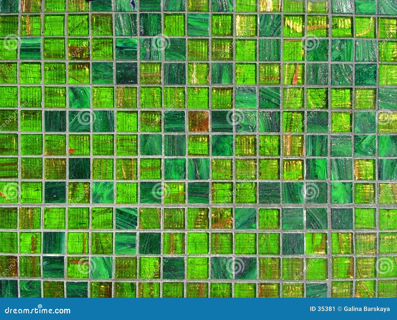 Groene tegelachtergrond