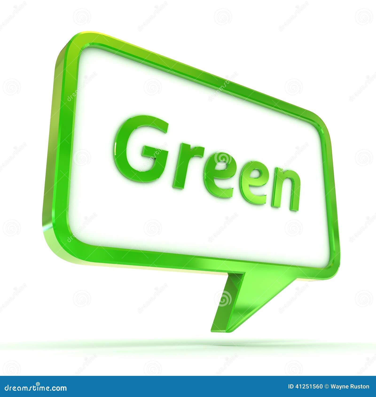 Groene toespraakbel